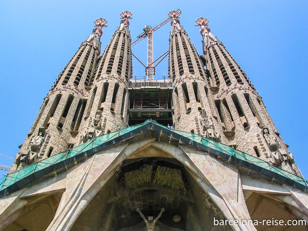 Sagrada Familia von Antoni Gaudi:  Wahrzeichen von Barcelona