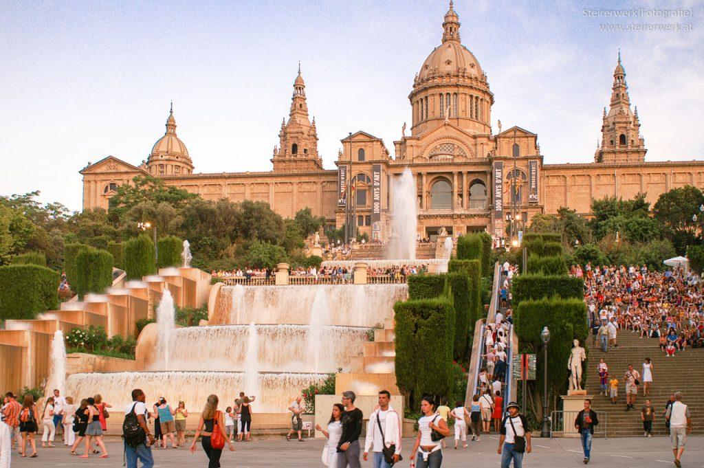 Wasserspiele in Barcelona unter Tags