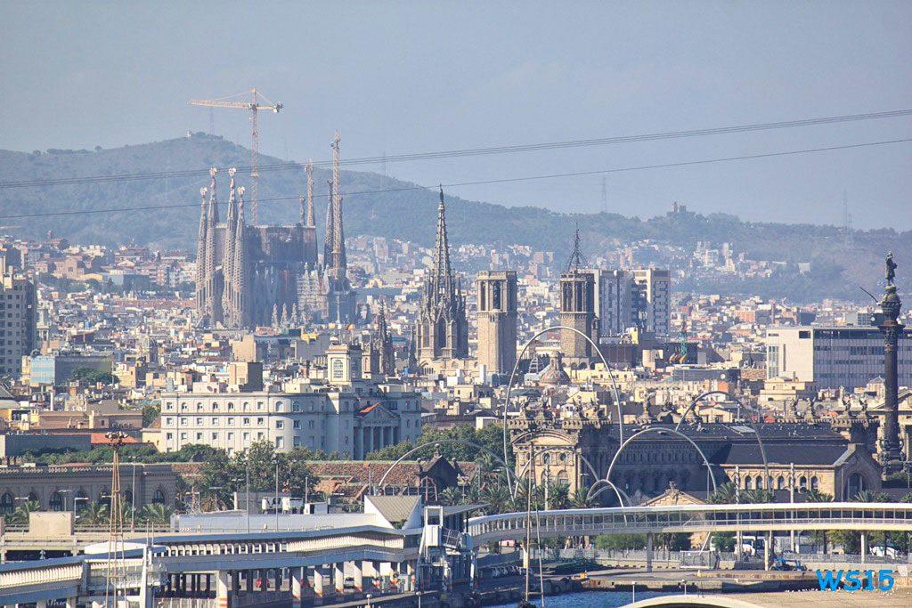 Barcelona Mittelmeer Kreuzfahrt
