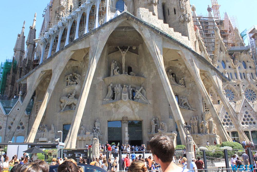 Eingang der La Sagrada Familia
